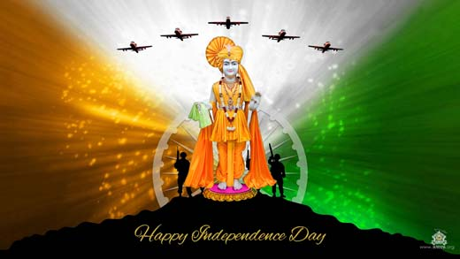 Smvs Swaminarayan Wallpaper Happy Independence Day