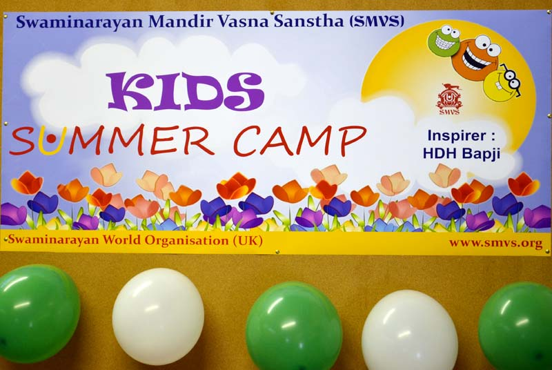 Kids Summer Camp - London - SMVS Swaminarayan Mandir Vasna Sanstha