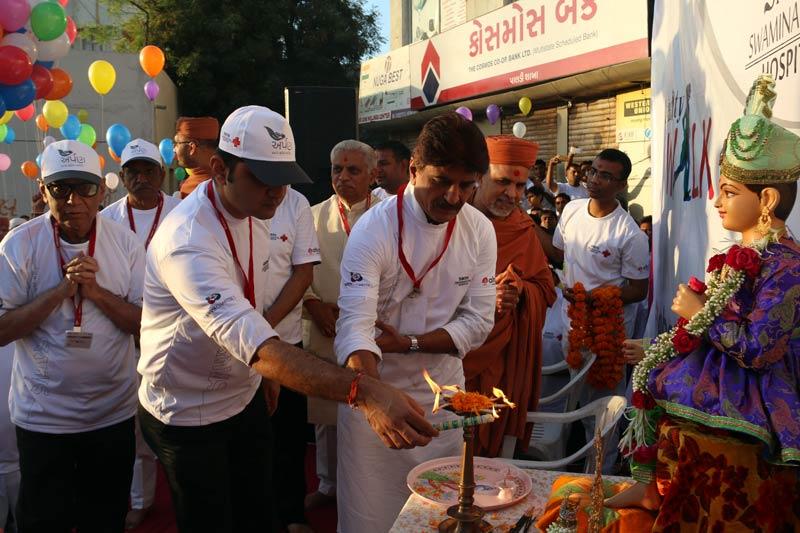 Charity Walk for SMVS Swaminarayan Hospital