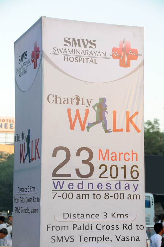Charity Walk for SMVS Swaminarayan Hospital