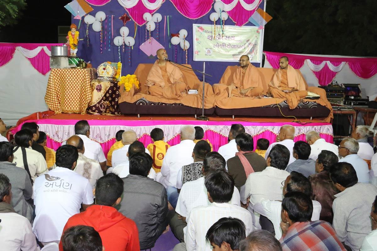 HH Swamishree Shakotsav Sabha At Mandal