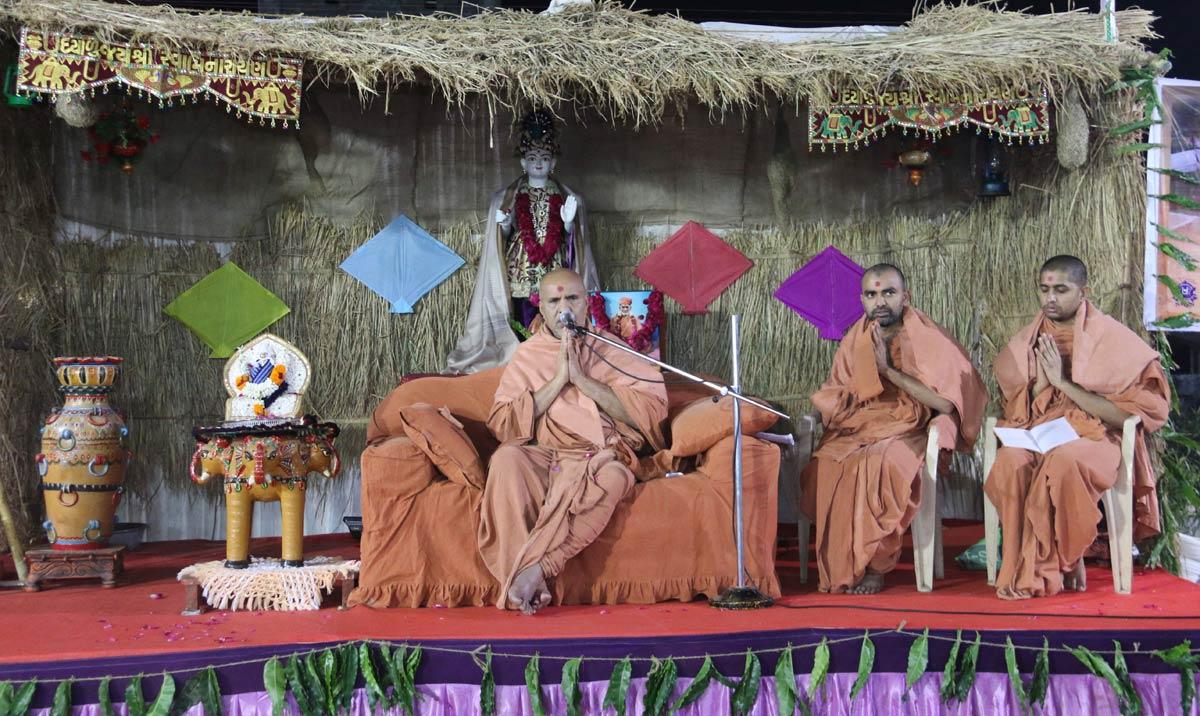 HH Swamishree Shakotsav Sabha At Prantiya,Gandhinagar.