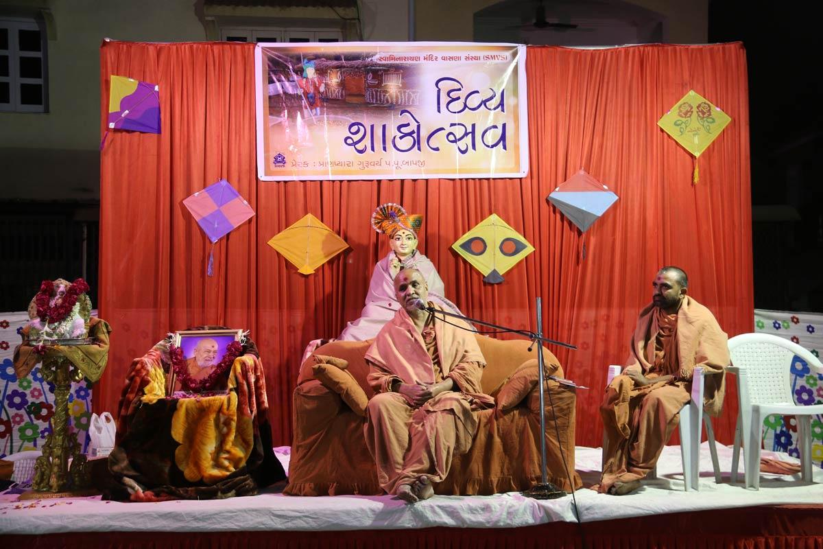 HH Swamishree Shakotsav Sabha At Chandkheda