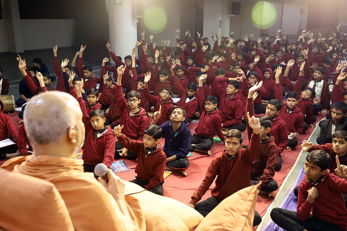 HDH Swamishri Sabha at Gurukul Swaminarayan Dham