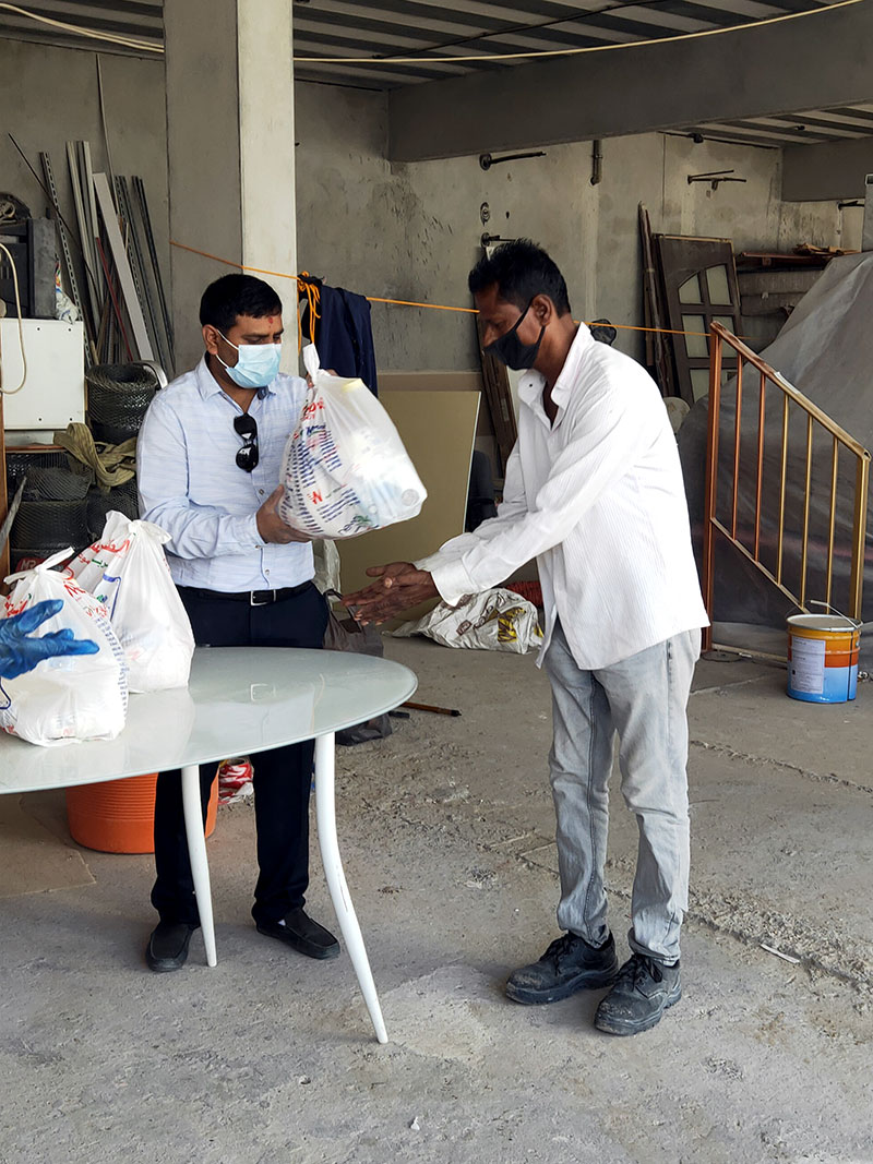 Community Services By SMVS During The Coronavirus Lockdown Abroad