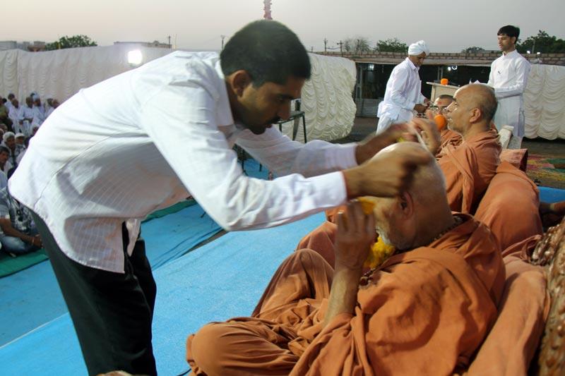 SMVS Swaminarayan Mandir Rampura Shilanyas Utsav