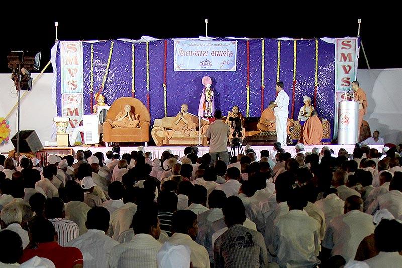 SMVS Swaminarayan Mandir Godhara Shilanyas Utsav