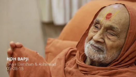HDH Bapji Divya Darshan & Ashirwad (05-08-18)
