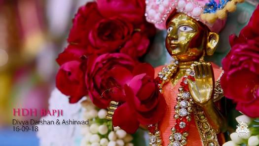 HDH Bapji Divya Darshan & Ashirwad (16-09-18)