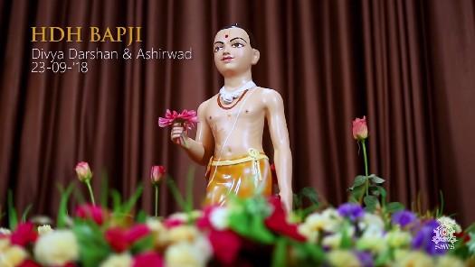 HDH Bapji Divya Darshan & Ashirwad (23-09-18)