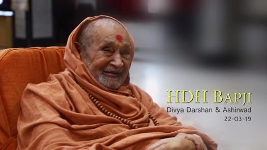 HDH Bapji Divya Darshan & Ashirwad (22-03-19)