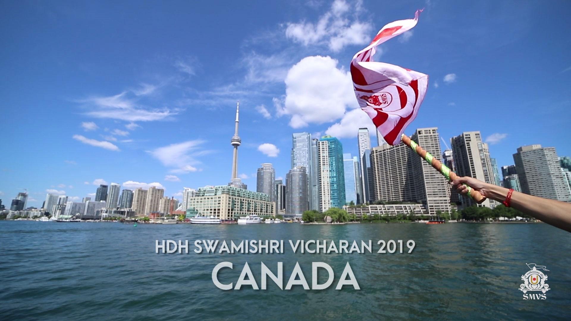 HDH Swamishri Canada Vicharan - 2019
