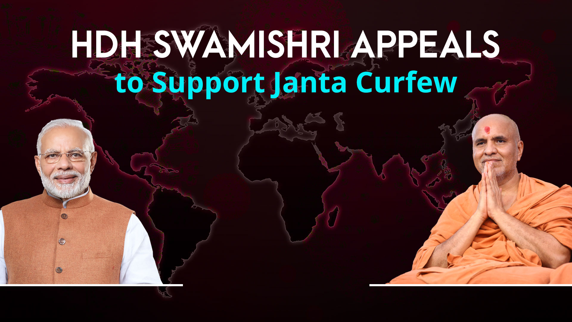 COVID-19 | HDH Swamishri Appeals to Support Janta Curfew