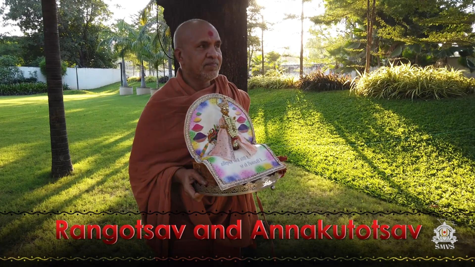 HDH Swamishri Vicharan | Rangotsav & Annakutotsav